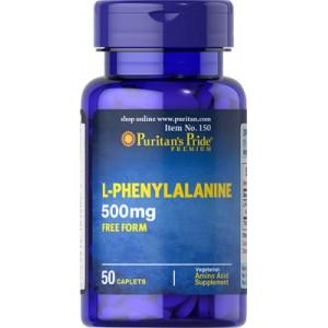 L-Fenilalanina, 500 mg - 50 cap.