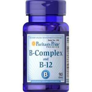 Complejo de vitaminas B y vitamina B-12 - 90 cap.