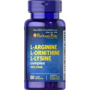 L-Arginine L-Ornithine L-Lysine - 60 cap.