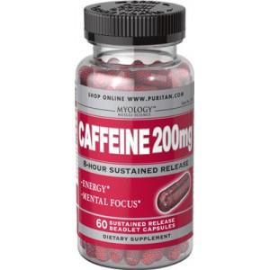 Cafeína, 200 mg, liberación gradual