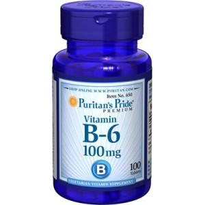 Vitamina B-6, 100 mg - 100 cap.