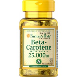 Beta-caroteno, 25.000 UI - 100 cap.