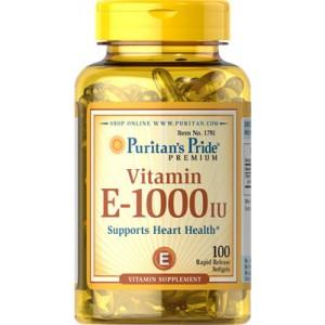 Vitamina E 1000 UI - 100 Softgels