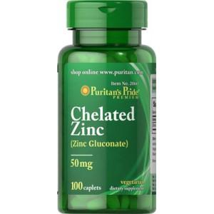Zinc quelado, 50 mg - 100 cap.