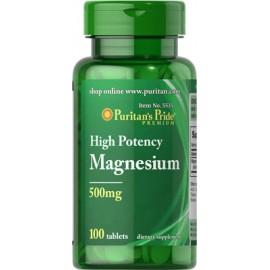 Magnesio, 500 mg - 100 cap.