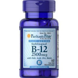 Vitamina B-12 con ácido fólico, B-6 y biotina