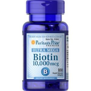 Biotina, 10.000 mcg - 100 cap.