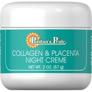 Crema natural de noche con colágeno y placenta