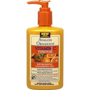Gel de limpieza refrescante Avalon con vitamina C. 8 Oz. - 226 Gr.