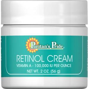 Crema con retinol (Vitamina A - 100.000 UI por onza) 2 Oz - 57 Gr.