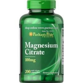 Citrato de magnesio, 100 mg, 200 cap.