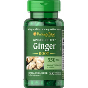 Raíz de jengibre, 550 mg, 100 cap.