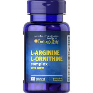 L-Arginina L-Ornitina, 1000 mg/500 mg - 60 cap.