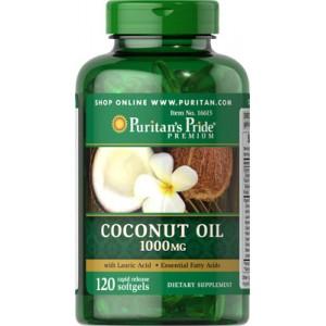 Aceite de coco, 1000 mg - 120 cap.