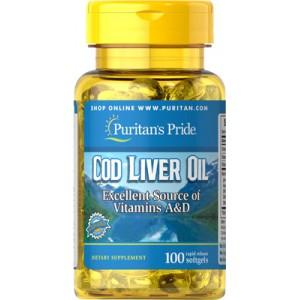 Aceite de hígado de bacalao noruego, 415 mg - 100 cap.