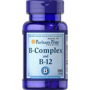 Complejo de vitaminas B y vitamina B-12 - 180 cap.