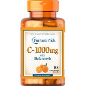 Vitamina C con bioflavonoides, 1000 mg - 100 cap.