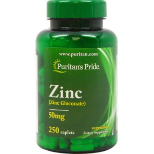 Zinc quelado, 50 mg - 250 Cap.