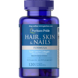 Fórmula para cabello, piel y uñas - 120 cap.