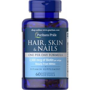 Fórmula para cabello, piel y uñas - 60 Softgels