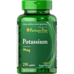 Quelato de potasio, 99 mg -250 cap.