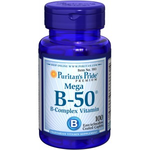 Complejo de vitaminas Mega B-50®  Complex- 100 cap.