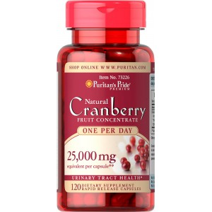 Arándano, Uno al día. 25,000 mcg. (500 mg) 120 cap.