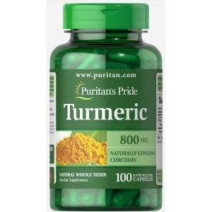 Cúrcuma (Turmeric), 800 mg - 100 cap.